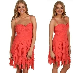 Max & Cleo Coral Rose Cocktail Dress